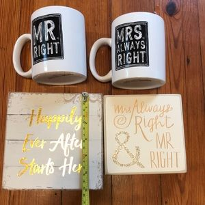 Other - Wedding decorated signed and mugs